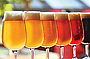 Collection of different coloured craft beers